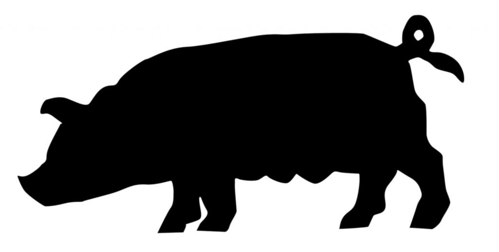 Silueta de cerdo
