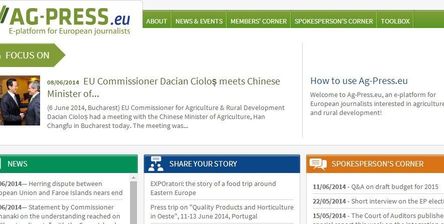 Un portal para la prensa agroalimentaria europea