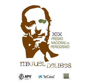 Cartel del XIX Premio Nacional de Periodismo Miguel Delibes