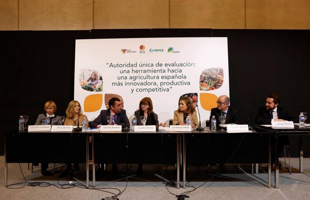 """Mesa redonda de la jornada """"Autoridad única de evaluación"""", organizada por AEPLA y FEPEX"""