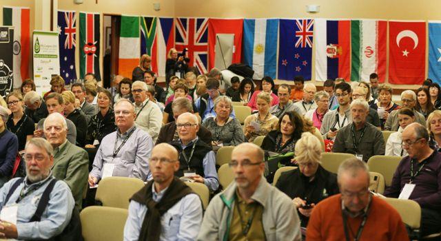 Delegados de IFAJ durante el congreso celebrado en Nueva Zelanda. Fotografía de Peter Drury