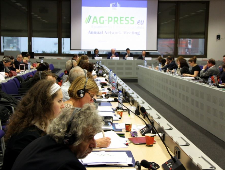 Presentes en la reunión anual de la prensa agraria europea
