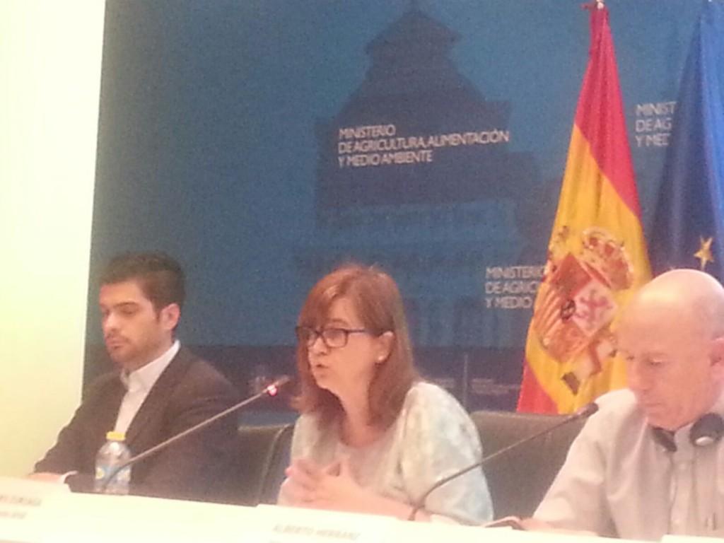 Lourdes Zuriaga durante su intervención en la jornada organizada por Interporc