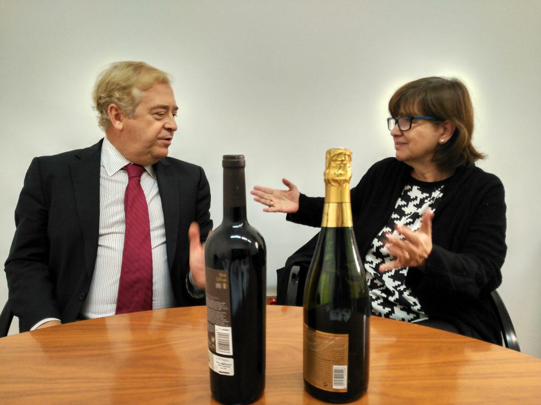 Lourdes Zuriaga y Jaime Palafox durante el encuentro
