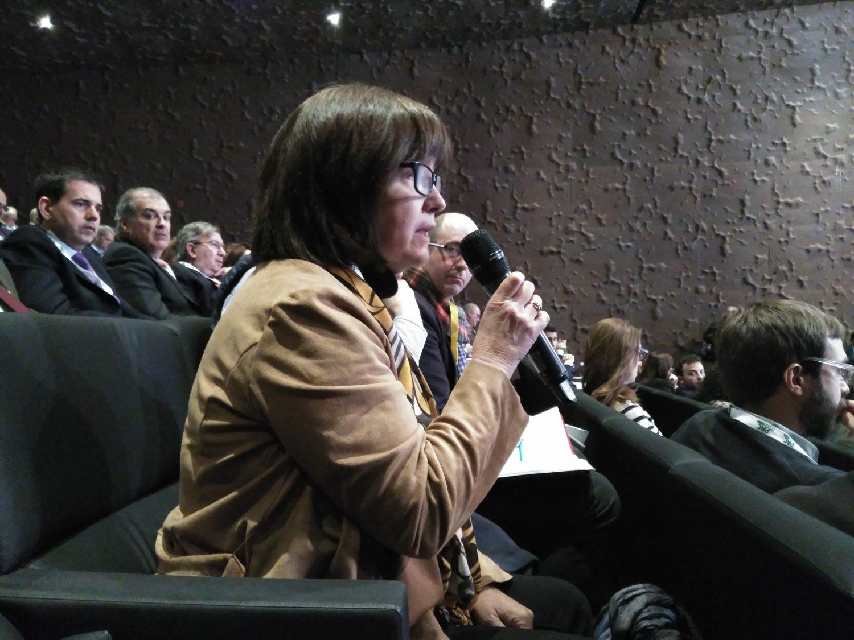 """La presidenta de APAE, Lourdes Zuriaga, durante su intervención en la Conferencia """"Construyendo la PAC del futuro"""""""
