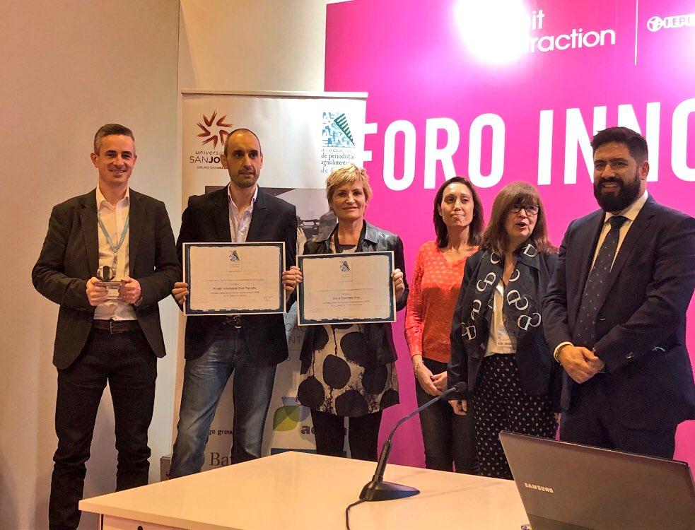 Ganadores de los premios periodísticos de APAE.