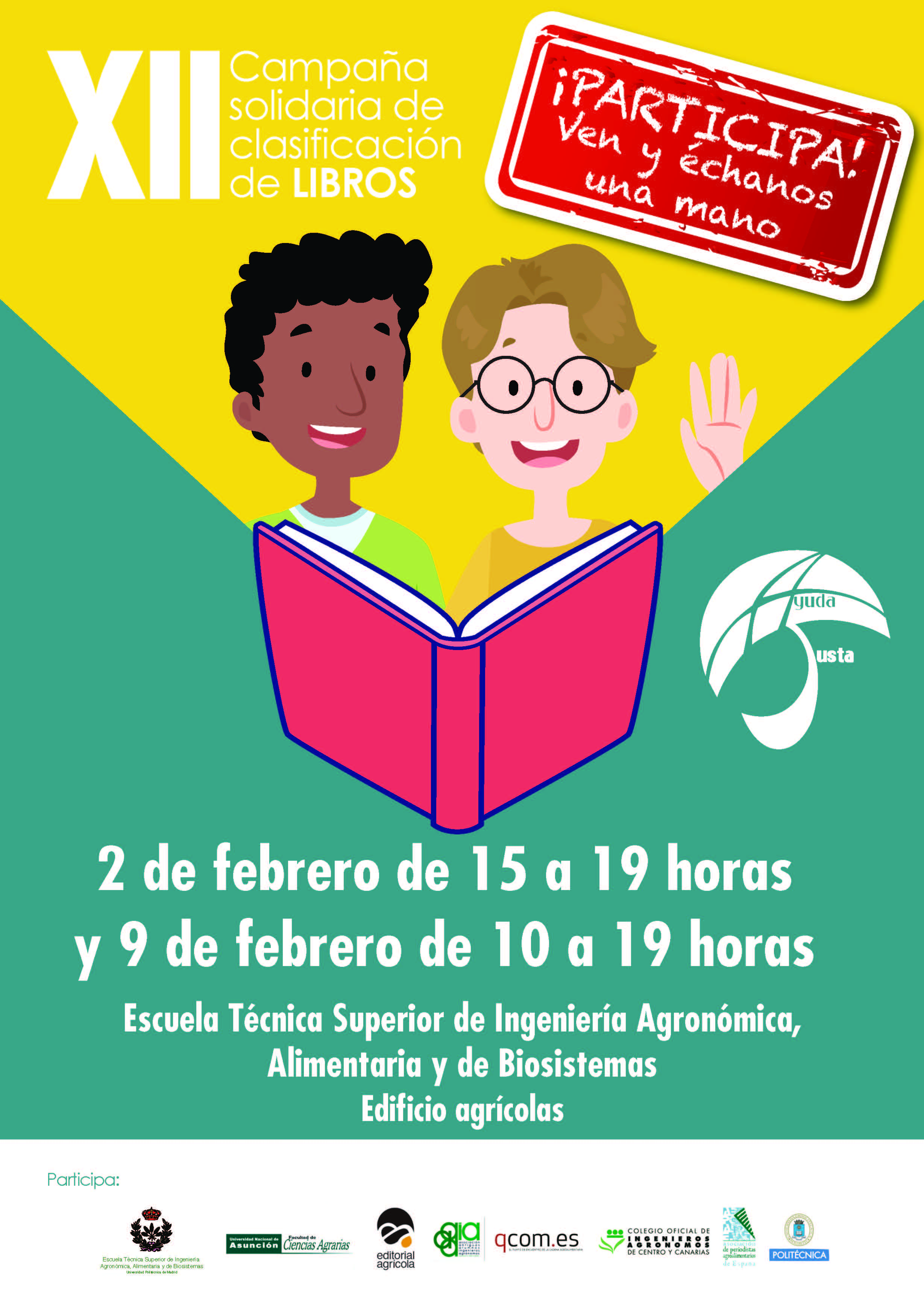 """XII Campaña Solidaria de Clasificación de Libros de """"Ayuda Justa"""""""