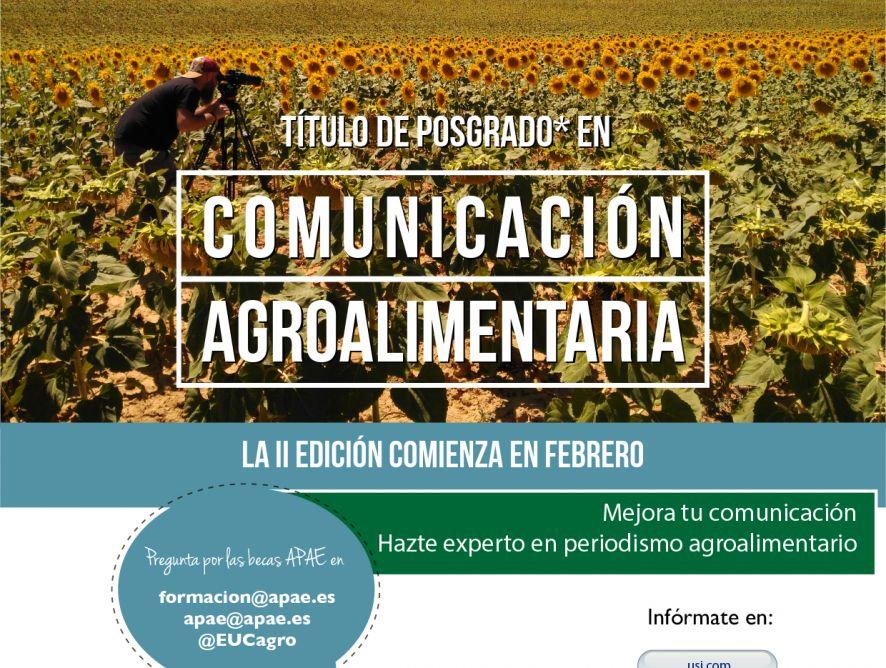 Nuevos apoyos al Curso de Experto Universitario en Comunicación Agroalimentaria