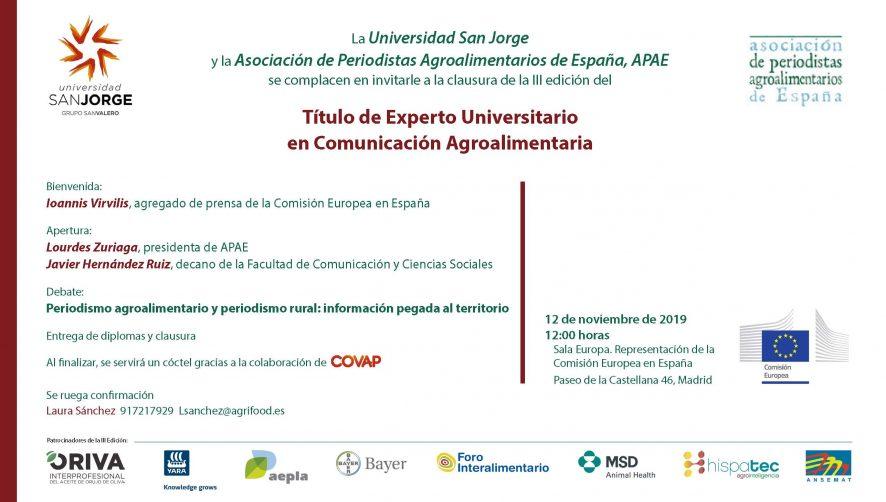 Clausura 3ª edición curso EUCAgro