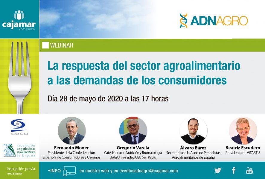 """APAE colabora en el webinar """"La respuesta del sector agroalimentario a las demandas de los consumidores"""""""