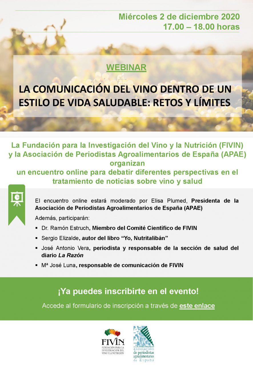 Webinar: La comunicación del vino dentro de un estilo de vida saludable: Retos y límites